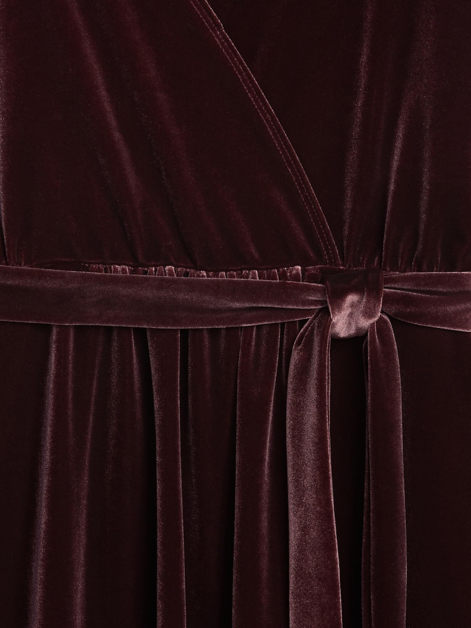e91683a2ab635 Maternity Velvet Tie-Waist Crossover Dress   Gap