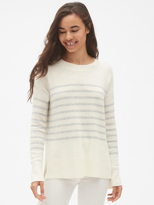 Stripe Crewneck Pullover Sweater Tunic by Gap