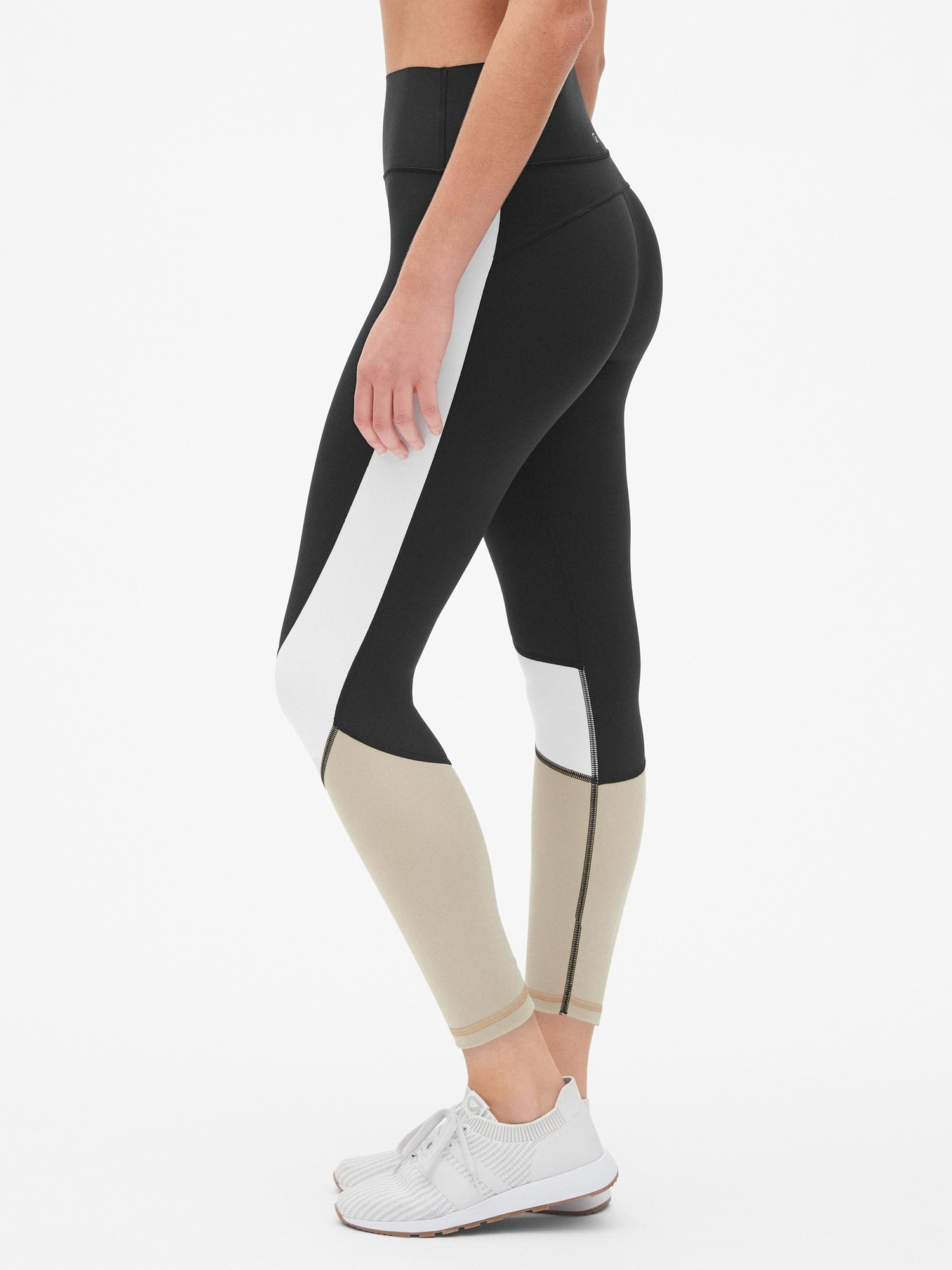 3209d41f1b GapFit High Rise Colorblock 7/8 Leggings in Sculpt Revolution | Gap
