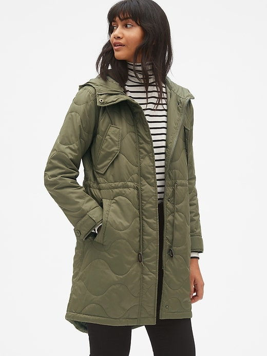 Midweight Quilted Fishtail Parka by Gap