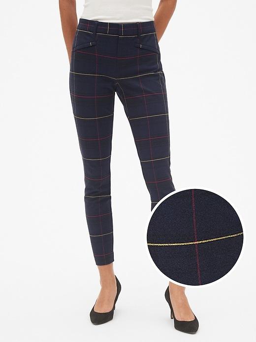 Plaid Skinny Ankle Pants by Gap