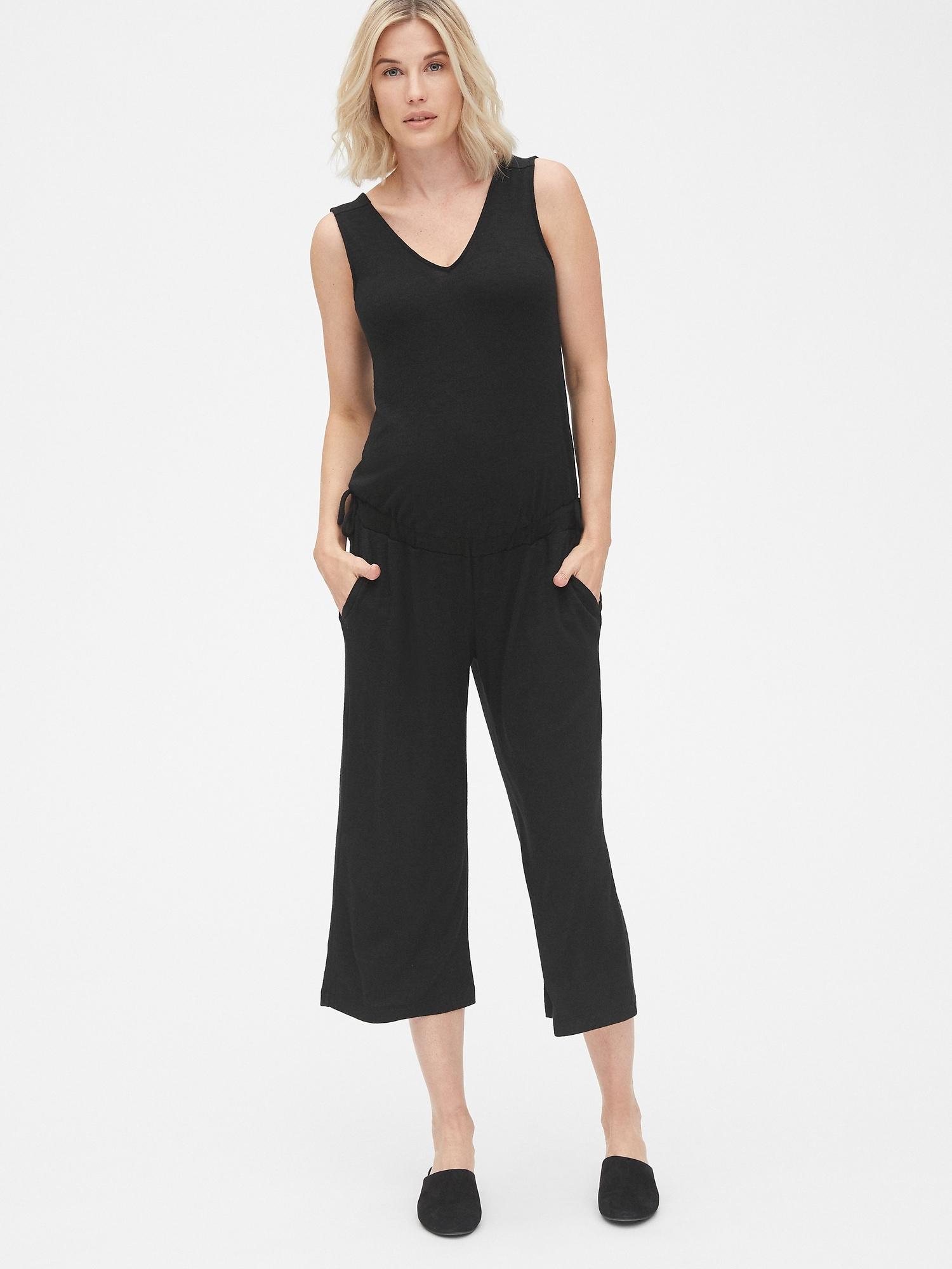 730f30e4a37a Maternity Softspun Sleeveless Tie-Waist Jumpsuit