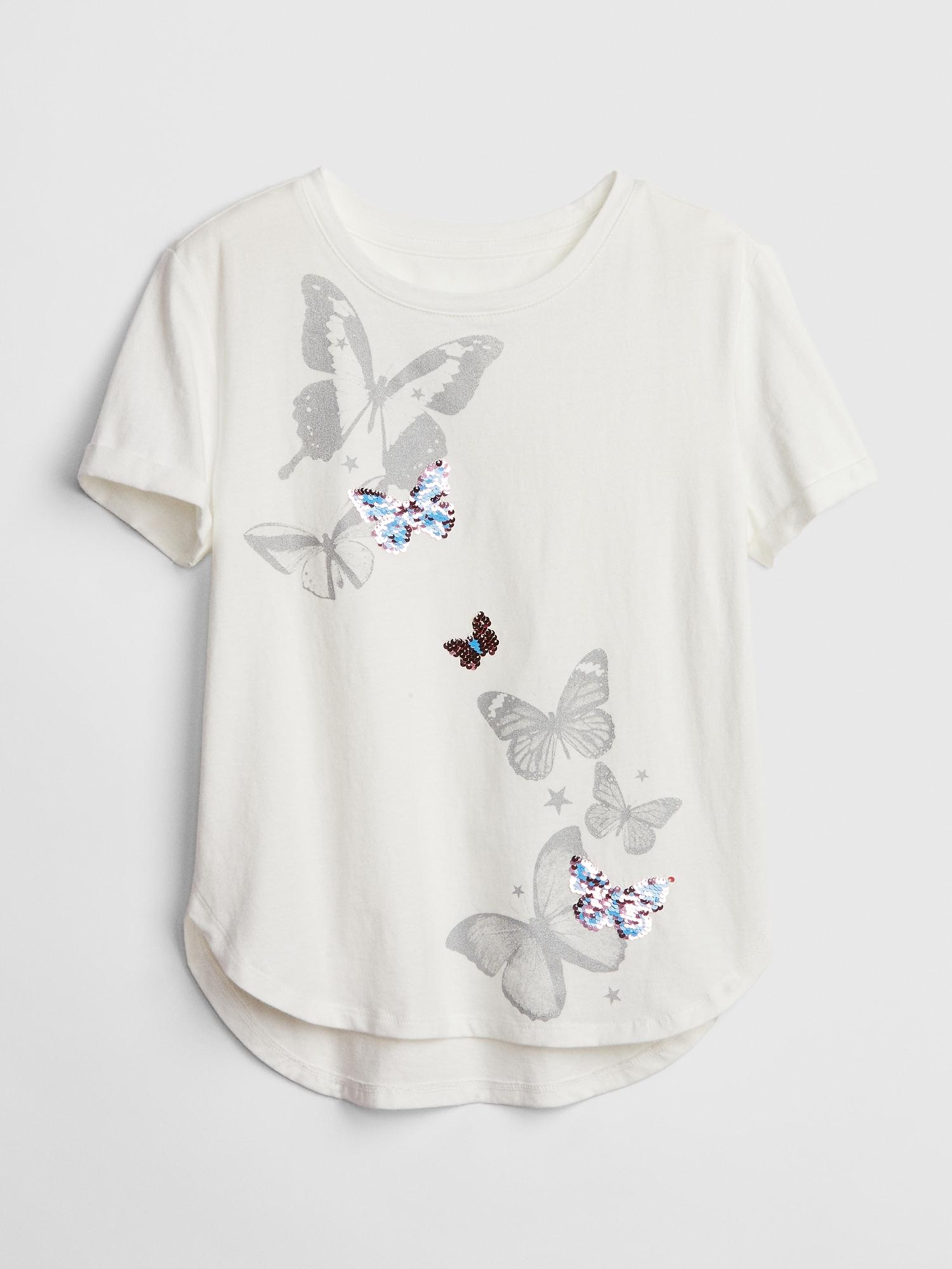 398789bcc2d Kids Flippy Sequin Graphic T-Shirt | Gap