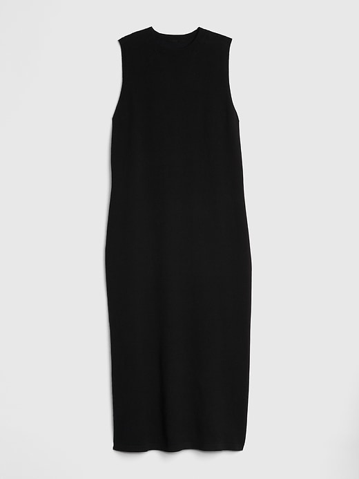 S Small Black #442291 Gap Sleeveless Sweater Midi Dress