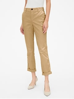 Girlfriend Twill Stripe Khakis