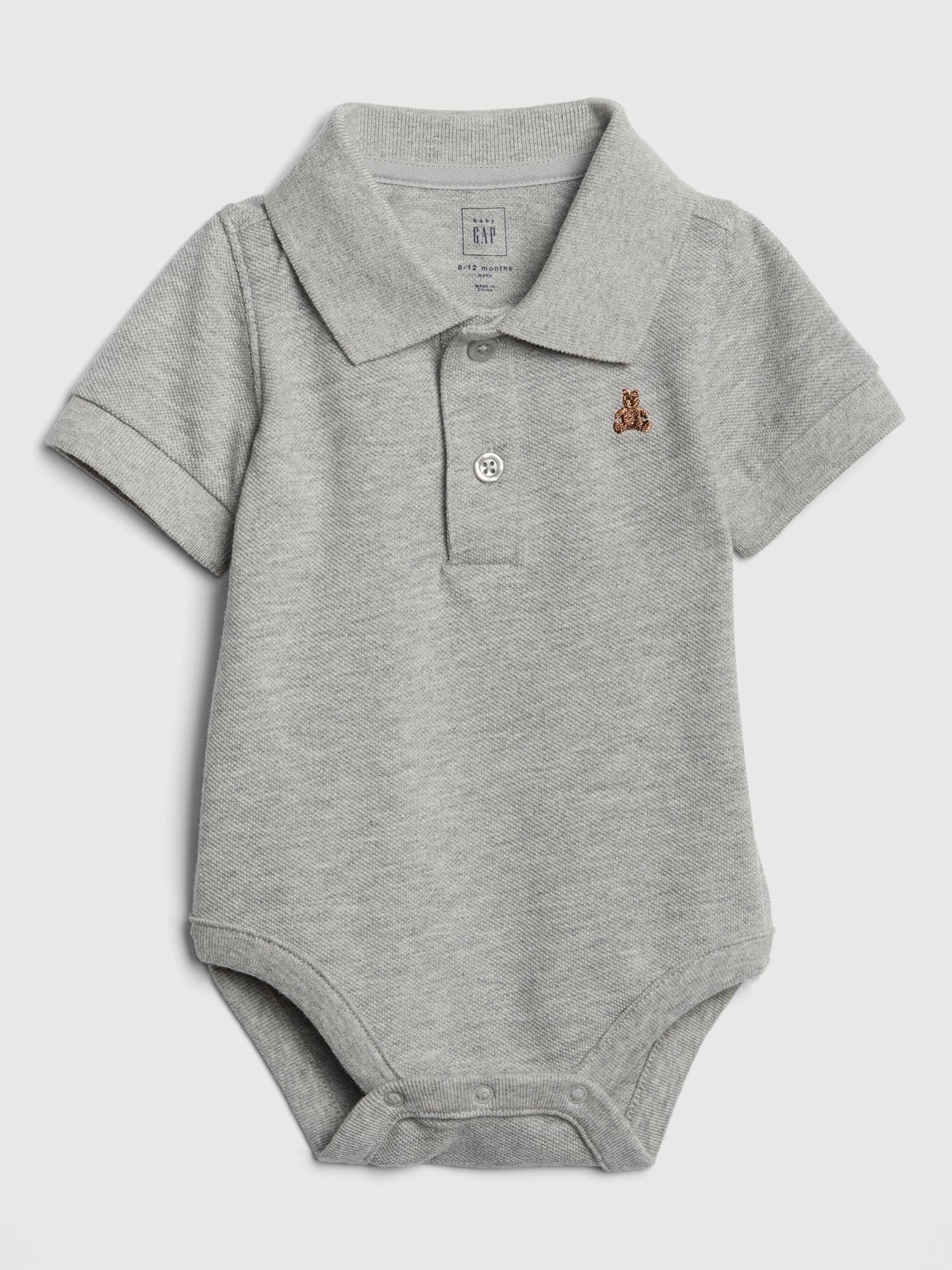 a3b21153 Polo Short Sleeve Bodysuit | Gap