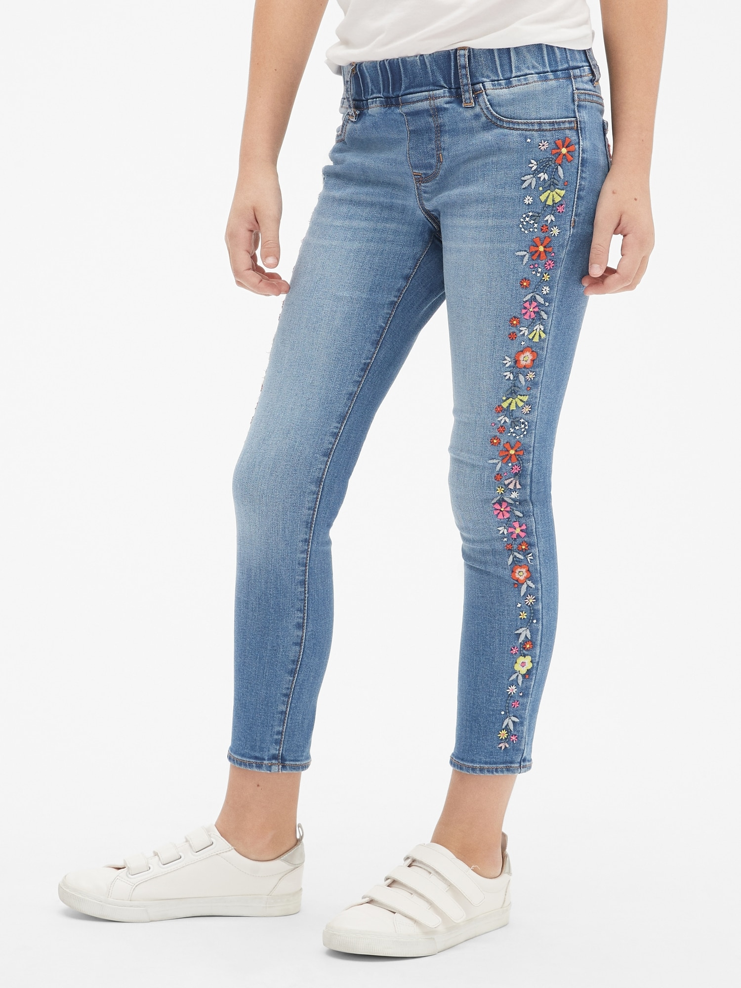 b9111494f2702b Kids Superdenim Floral Embroidered Jeggings with Fantastiflex | Gap