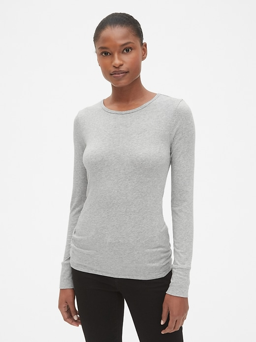 Featherweight Long Sleeve Crewneck T Shirt by Gap