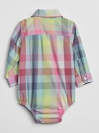 4ac4a9bce Baby Plaid Long Sleeve Shirt Bodysuit | Gap