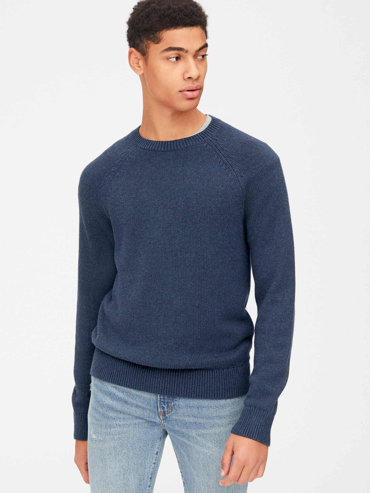 6f63e69c1 Textured Crewneck Pullover Sweater