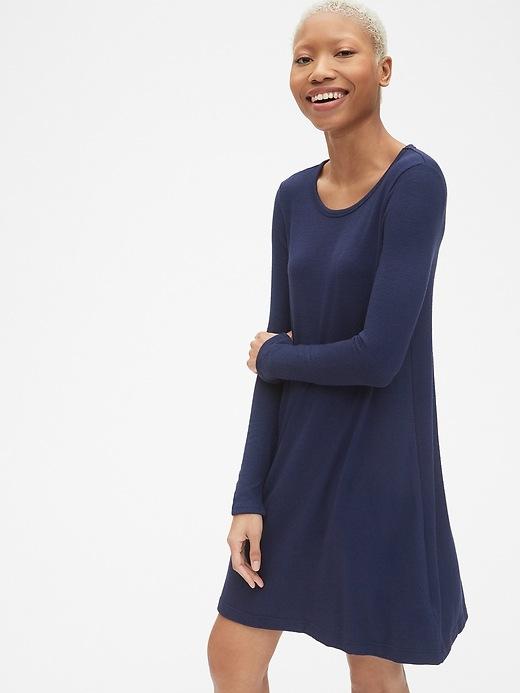 Softspun Long Sleeve T Shirt Dress by Gap