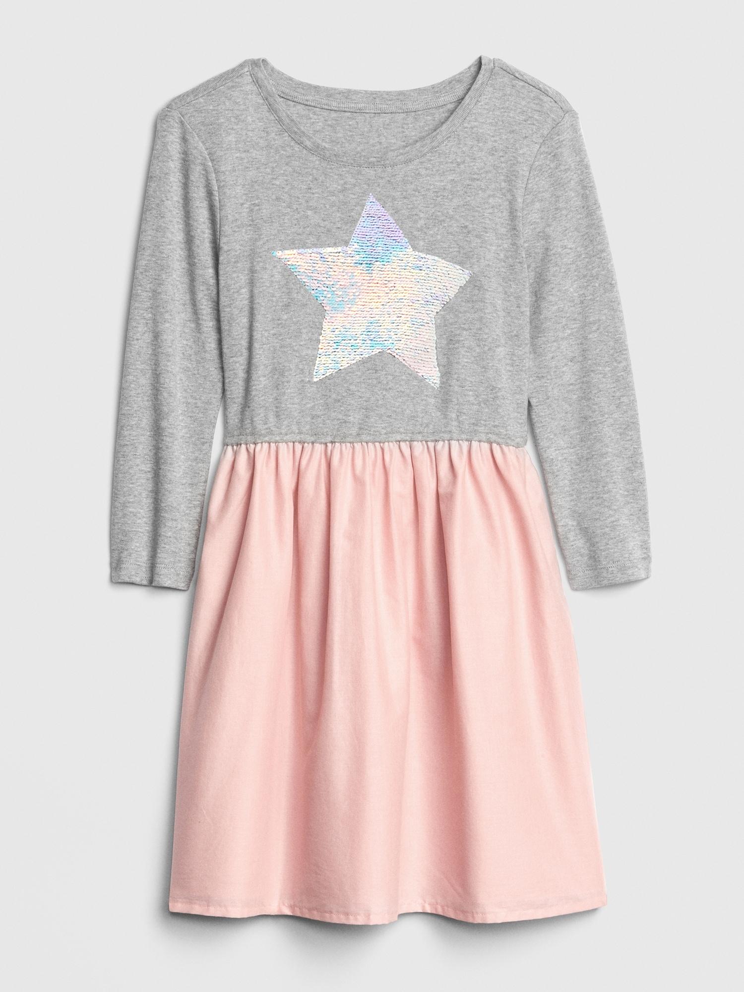 088626f3 Kids Flippy Sequin Mix-Fabric Dress | Gap