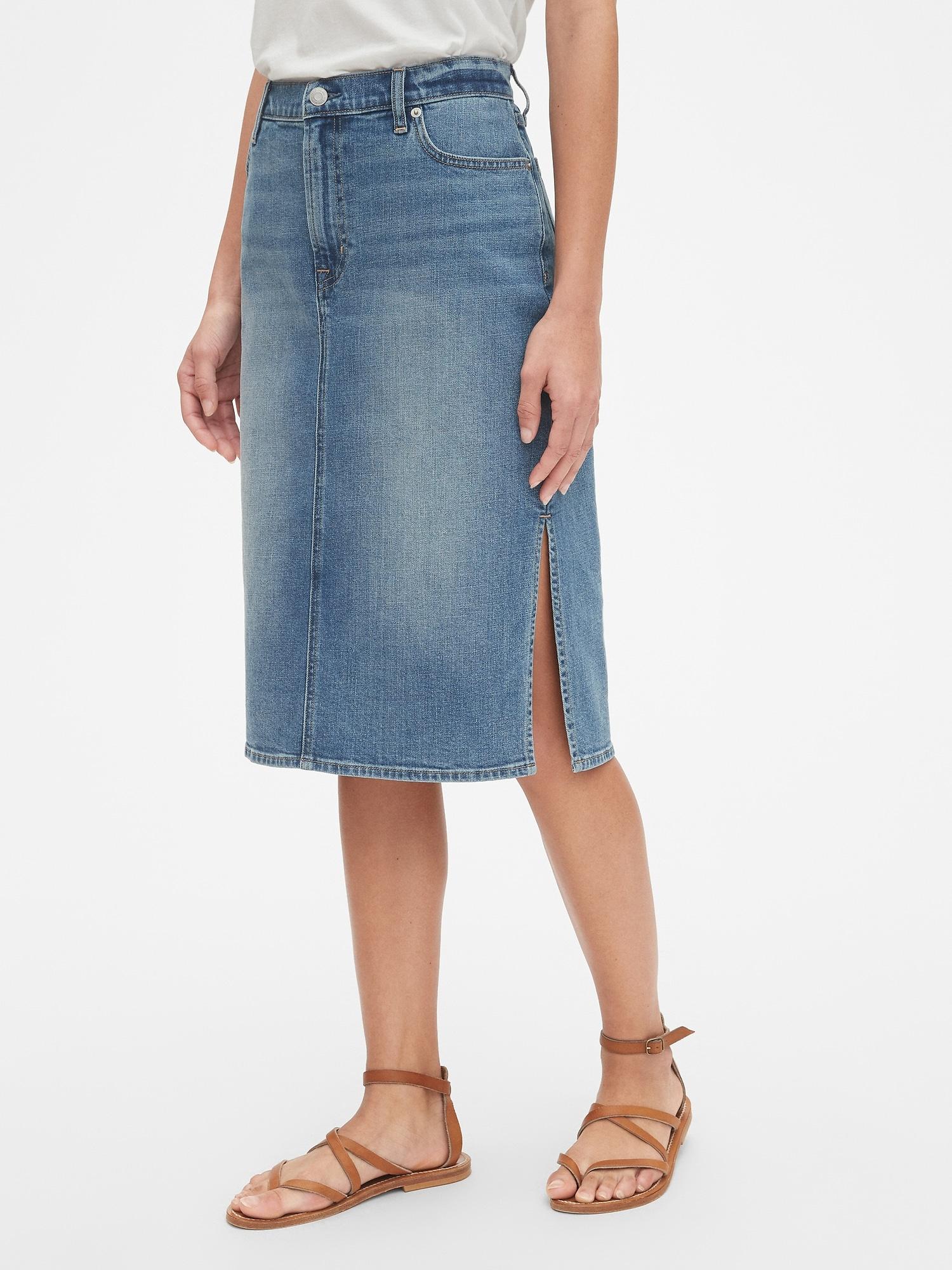 6098ebbac2 Denim Pencil Skirt Gap – DACC