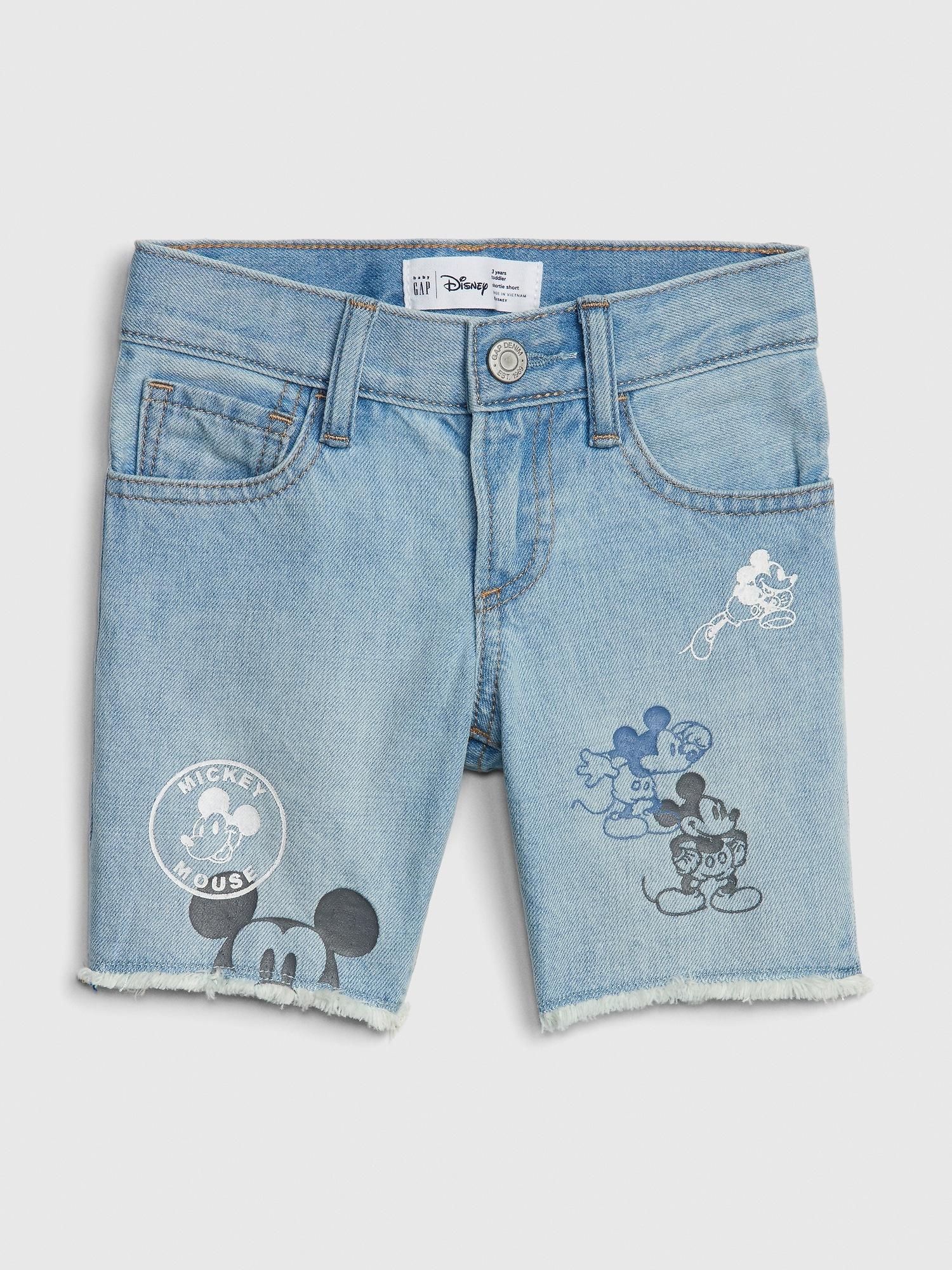 a3de3aeec3 babyGap | Disney Mickey Mouse Denim Shorts | Gap