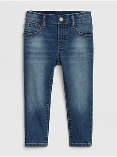 Toddler Elasticized Pull-On Slim Taper Jeans with Washwell™
