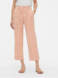 High Rise Straight Crop Chinos