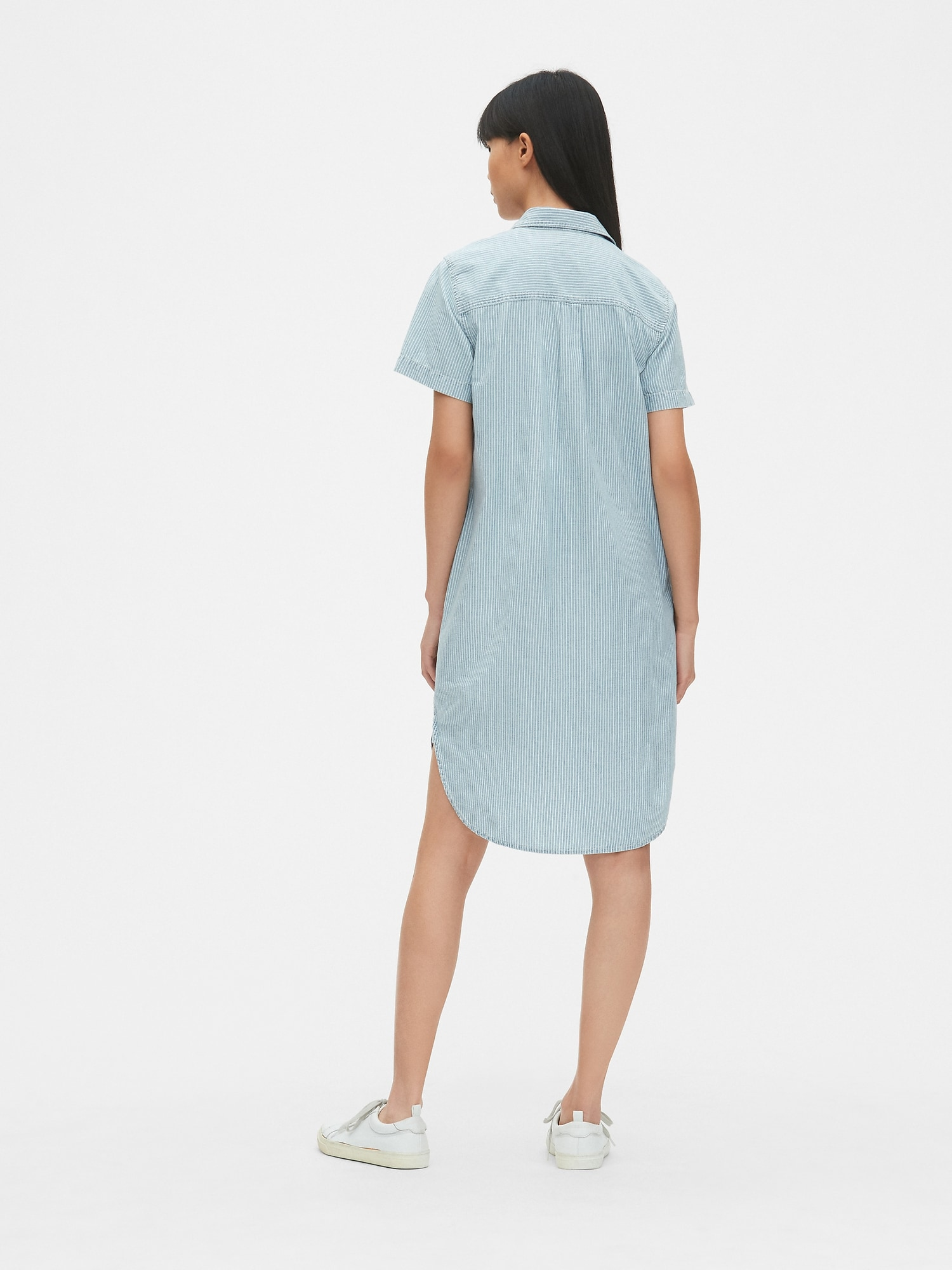 31db5fce62 Perfect Stripe Denim Popover Shirtdress