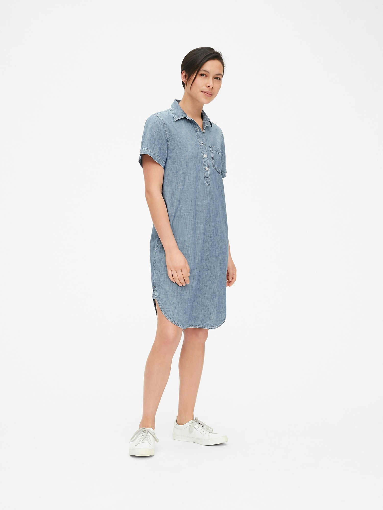 5667b80309 Perfect Popover Shirtdress in Chambray