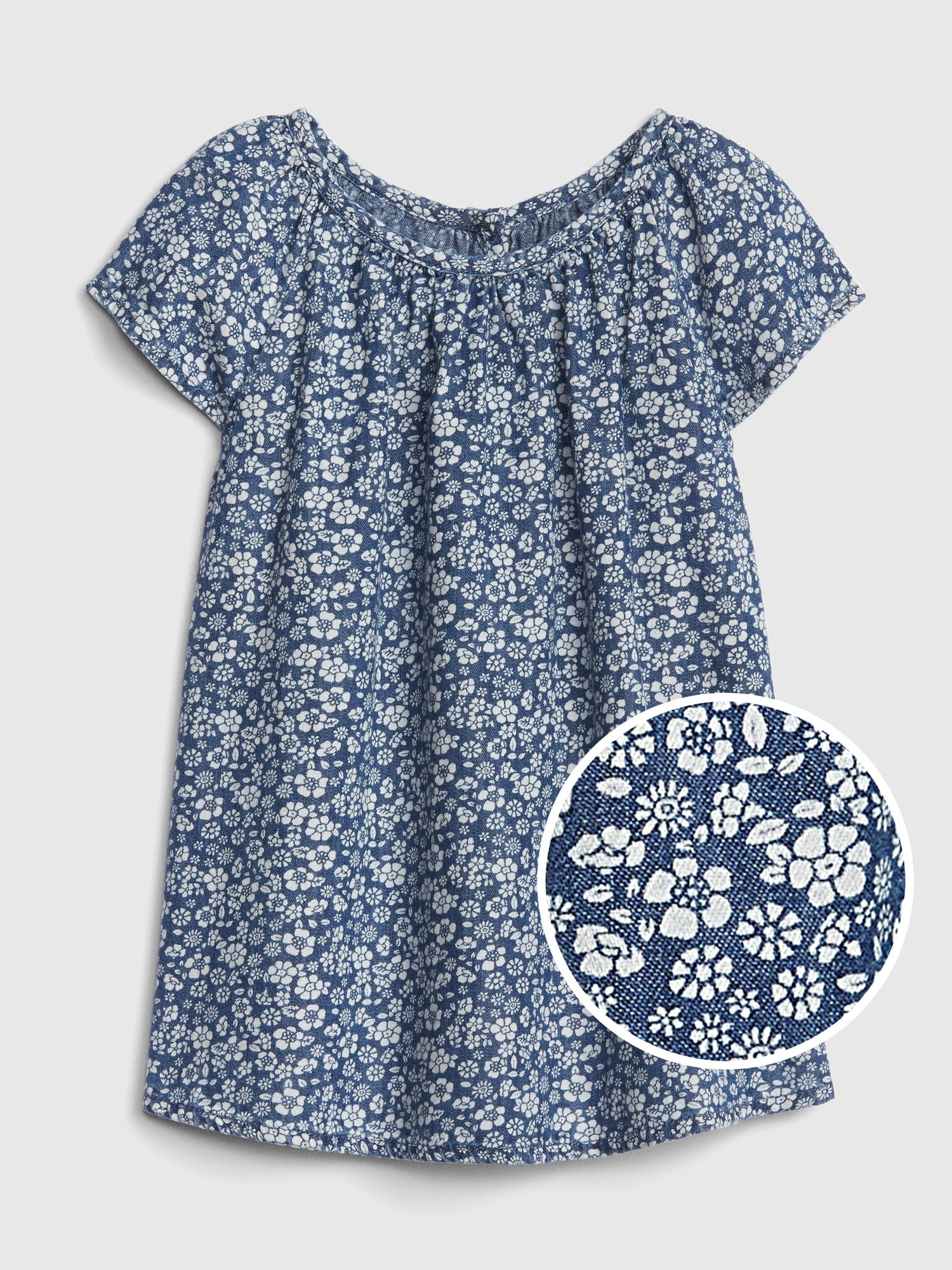 62016f32227 Floral Denim Dress