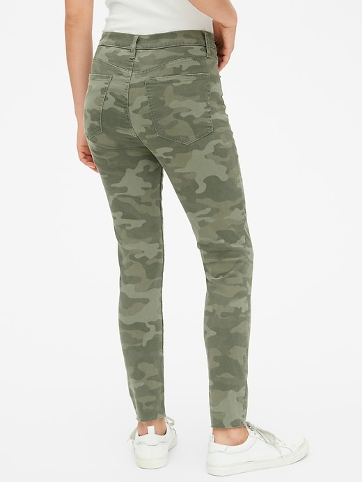 High Rise True Skinny Ankle Jeans in Camo with Secret Smoothing Pockets