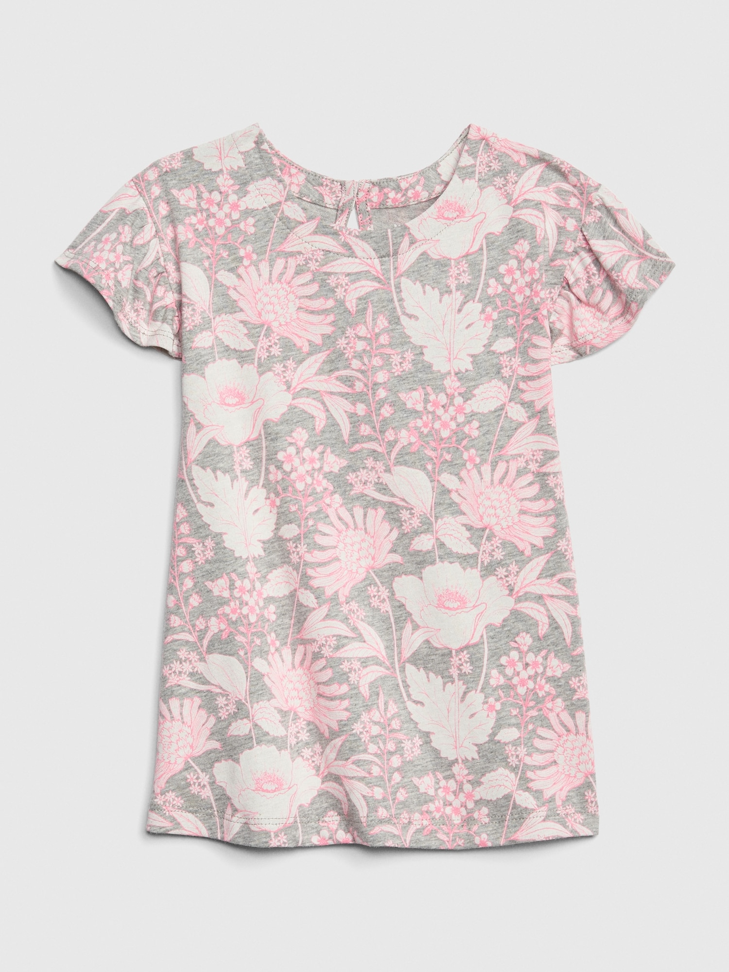 d930f8e89dee Baby Print Flutter Sleeve Dress | Gap