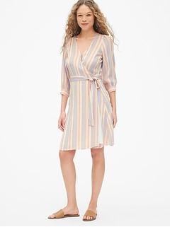 Blouson Sleeve Wrap Dress
