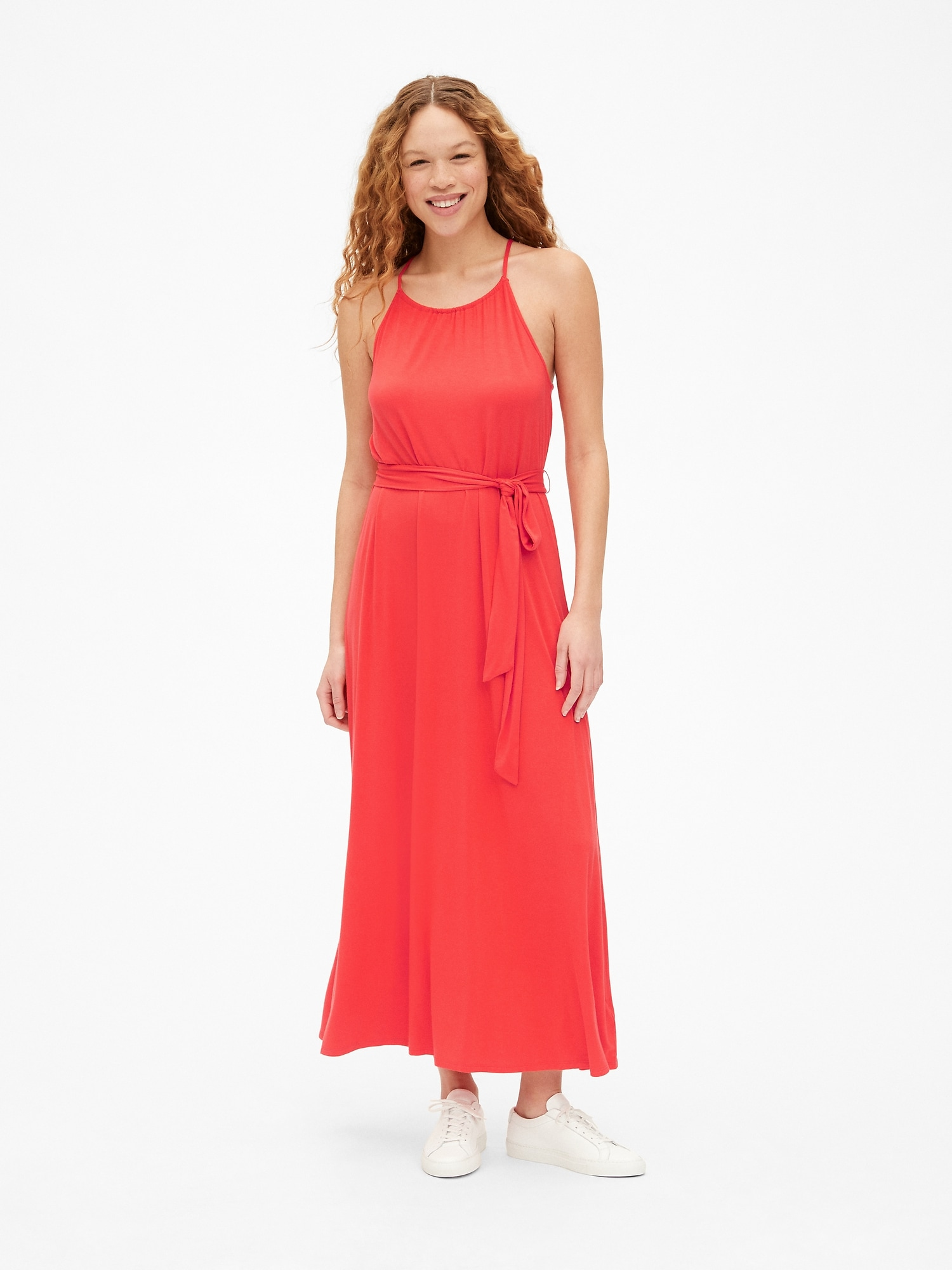 Dept Maxi Jurk.Halter Maxi Dress Gap