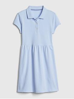 Kids Uniform Short Sleeve Polo Dress