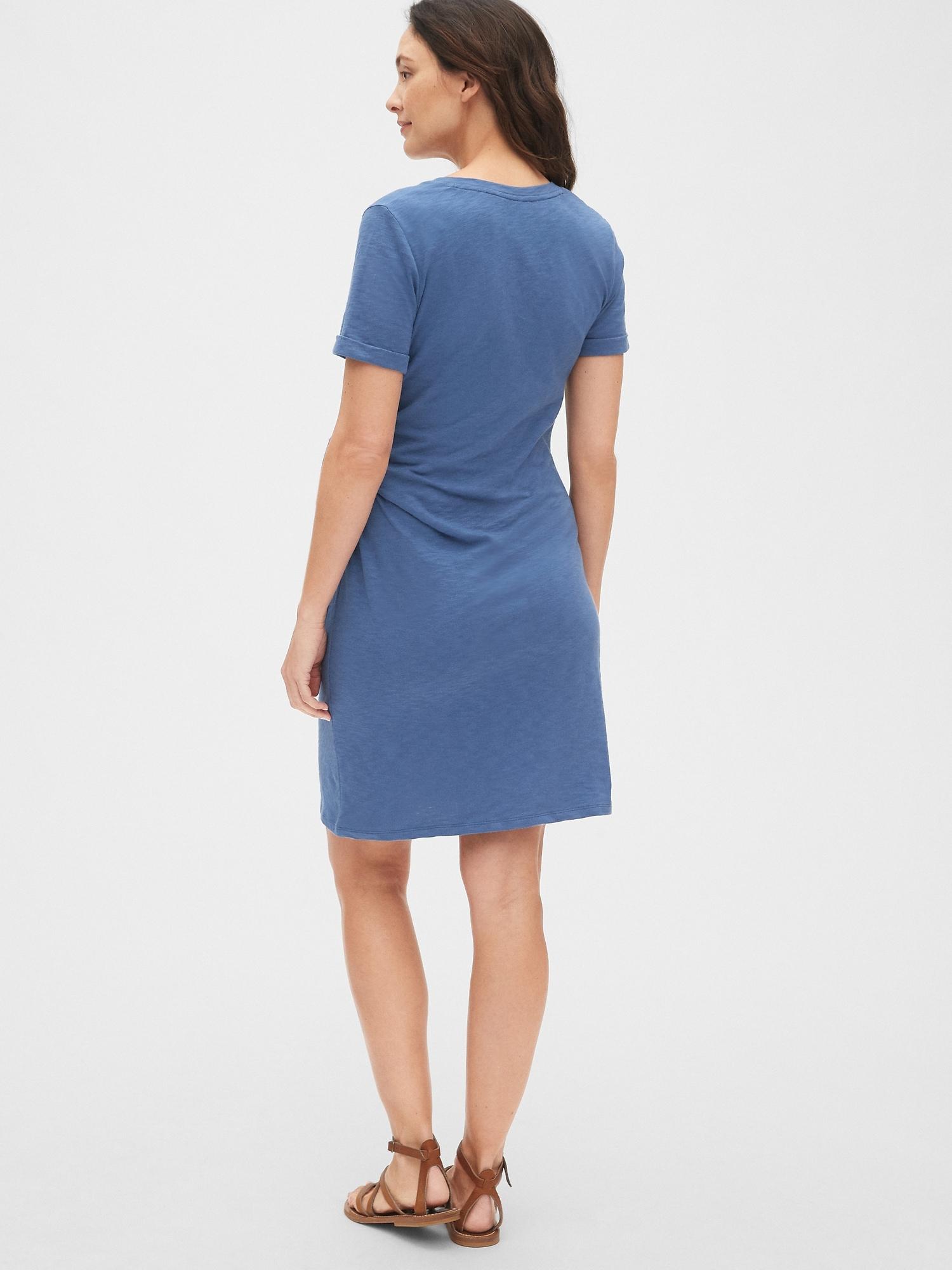 7d4c3cc617e Maternity Side-Tie V-Neck T-Shirt Dress