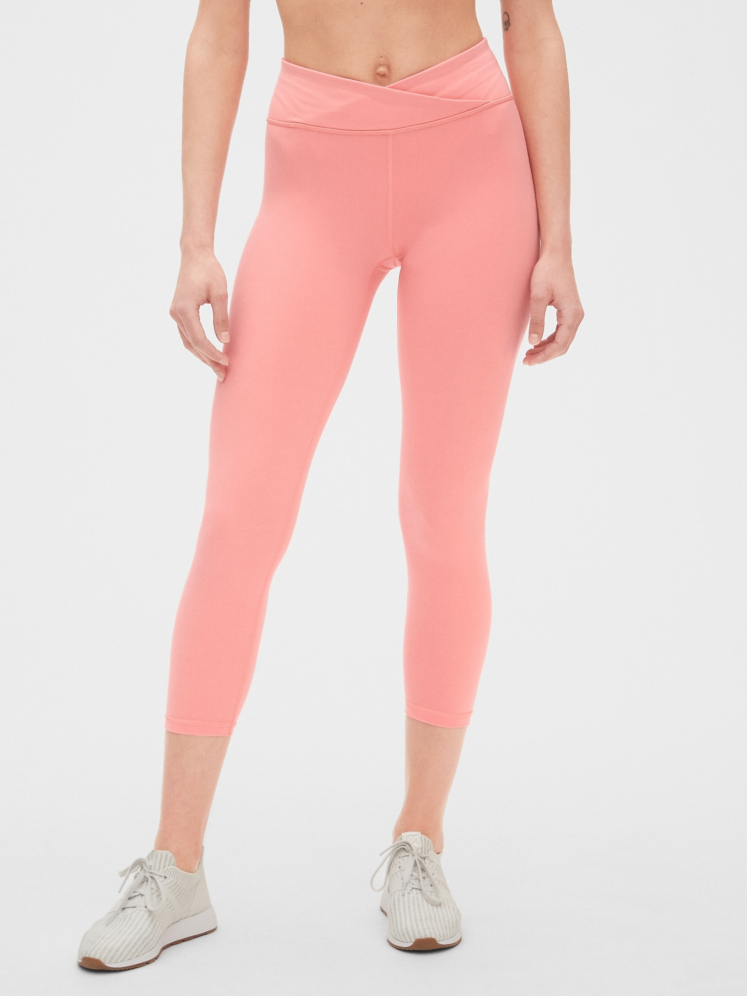 40db2cc461 GapFit Crossover Waist 7/8 Leggings in Eclipse | Gap