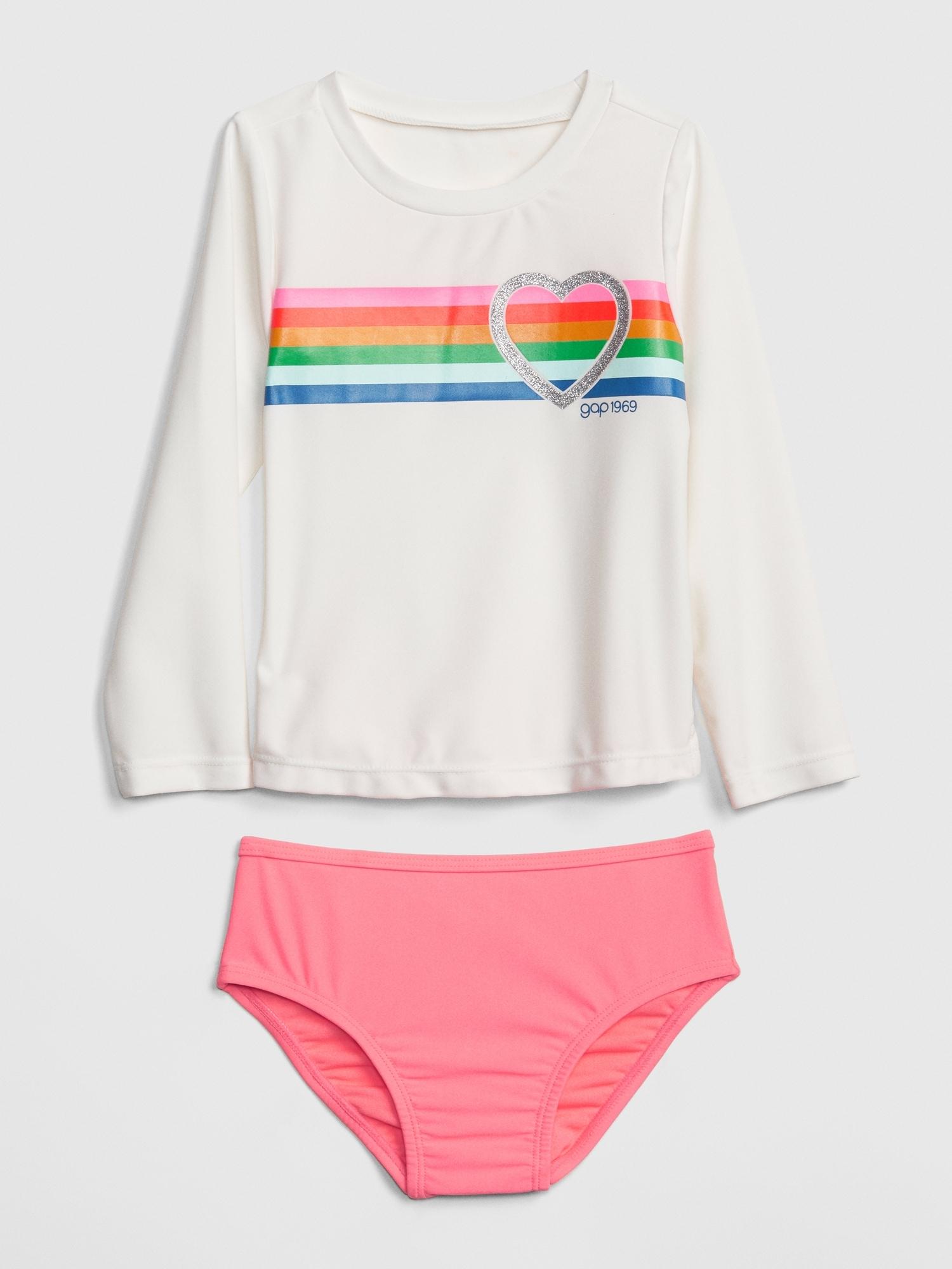72b4f53704e8e Toddler Rashguard Swim Two-Piece | Gap
