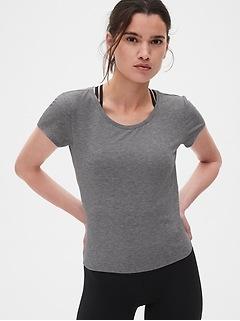 T-shirt Fit Breathe croisé et noué au dos