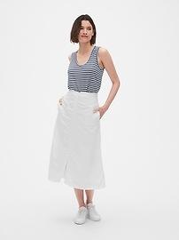 948c1740f Button-Front Midi Skirt in TENCEL™ | Gap