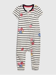 Baby Print Short Sleeve One-Piece