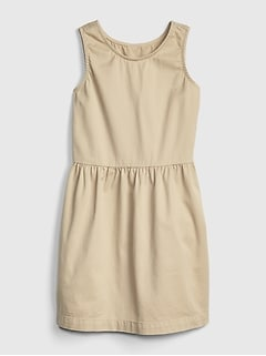 Kids Uniform Sleeveless Dress with Gap Shield
