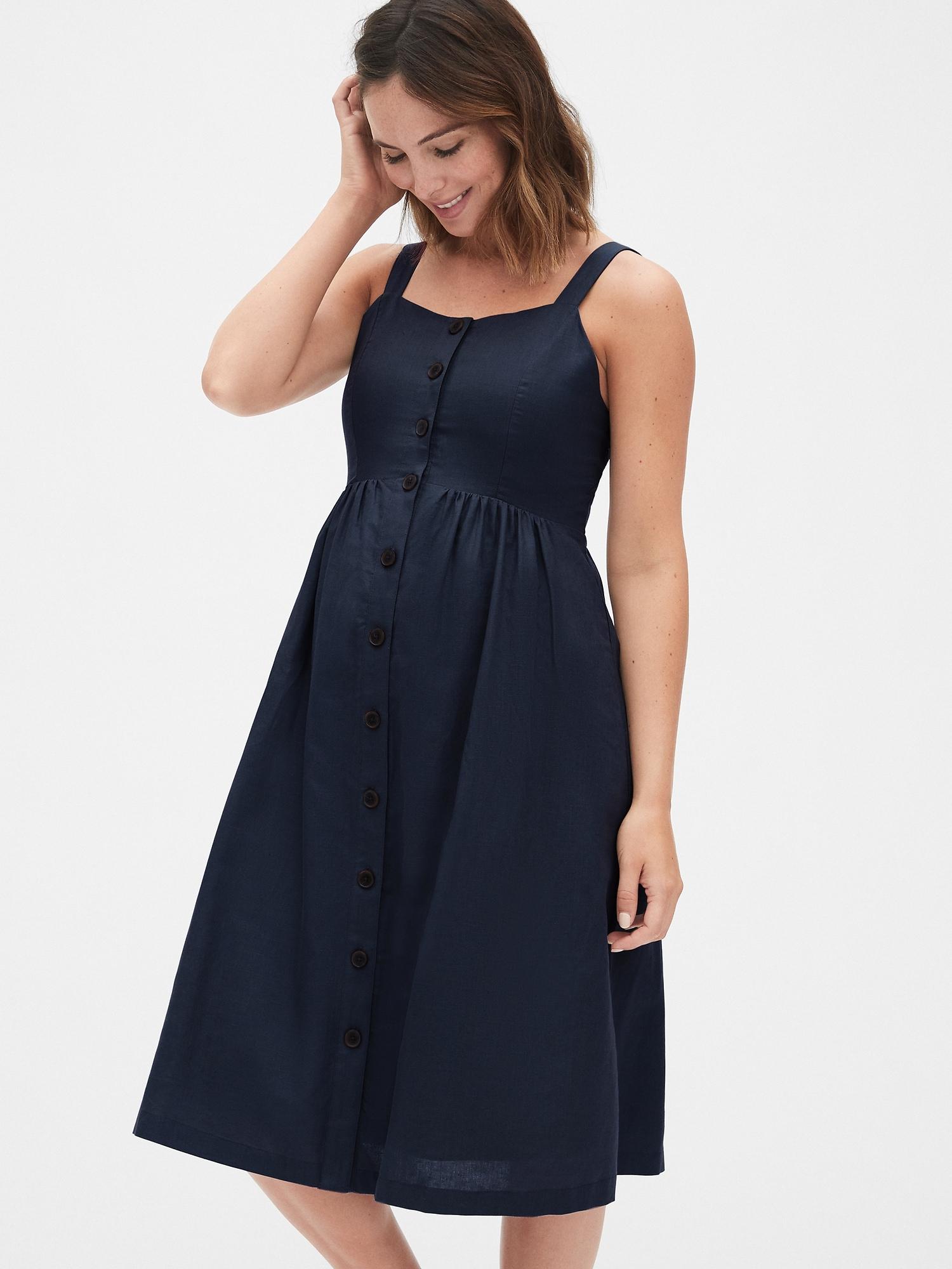 2a9530cfc6a36 Maternity Apron Midi Dress | Gap