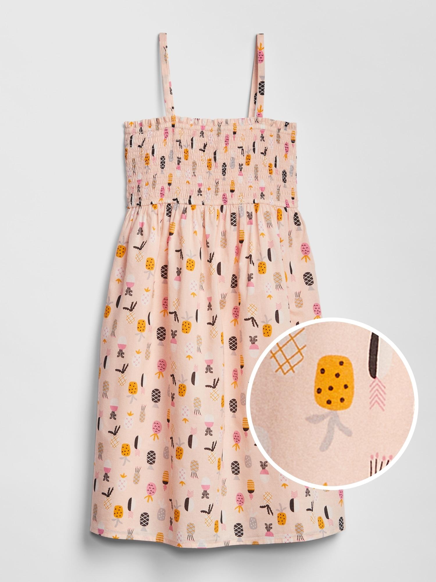 4fb7b982c8e Kids Print Smocked Dress