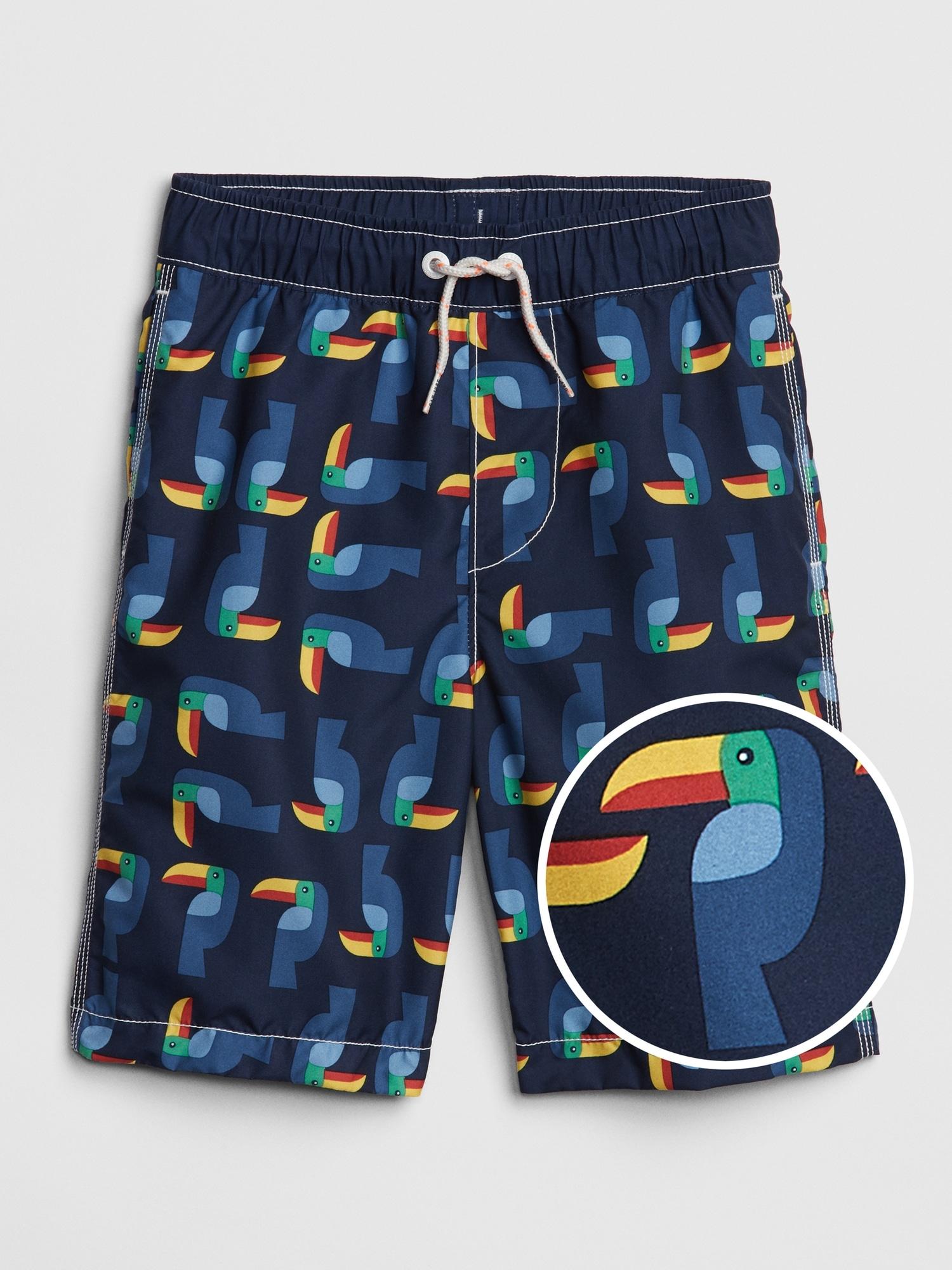 6b7cb050a0 Kids Print Swim Trunks | Gap