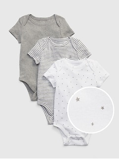 Baby First Favorite Short Sleeve Bodysuit (3-Pack)