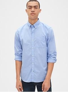 Chemise en popeline extensible rayée à fils teints, coupe standard