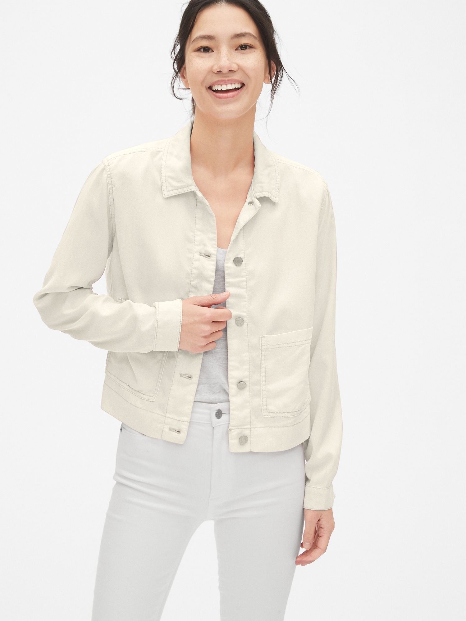 7792922096970 TENCEL™ Icon Utility Jacket | Gap