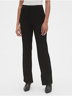 High Rise Slim Boot Pants with Ankle Slit