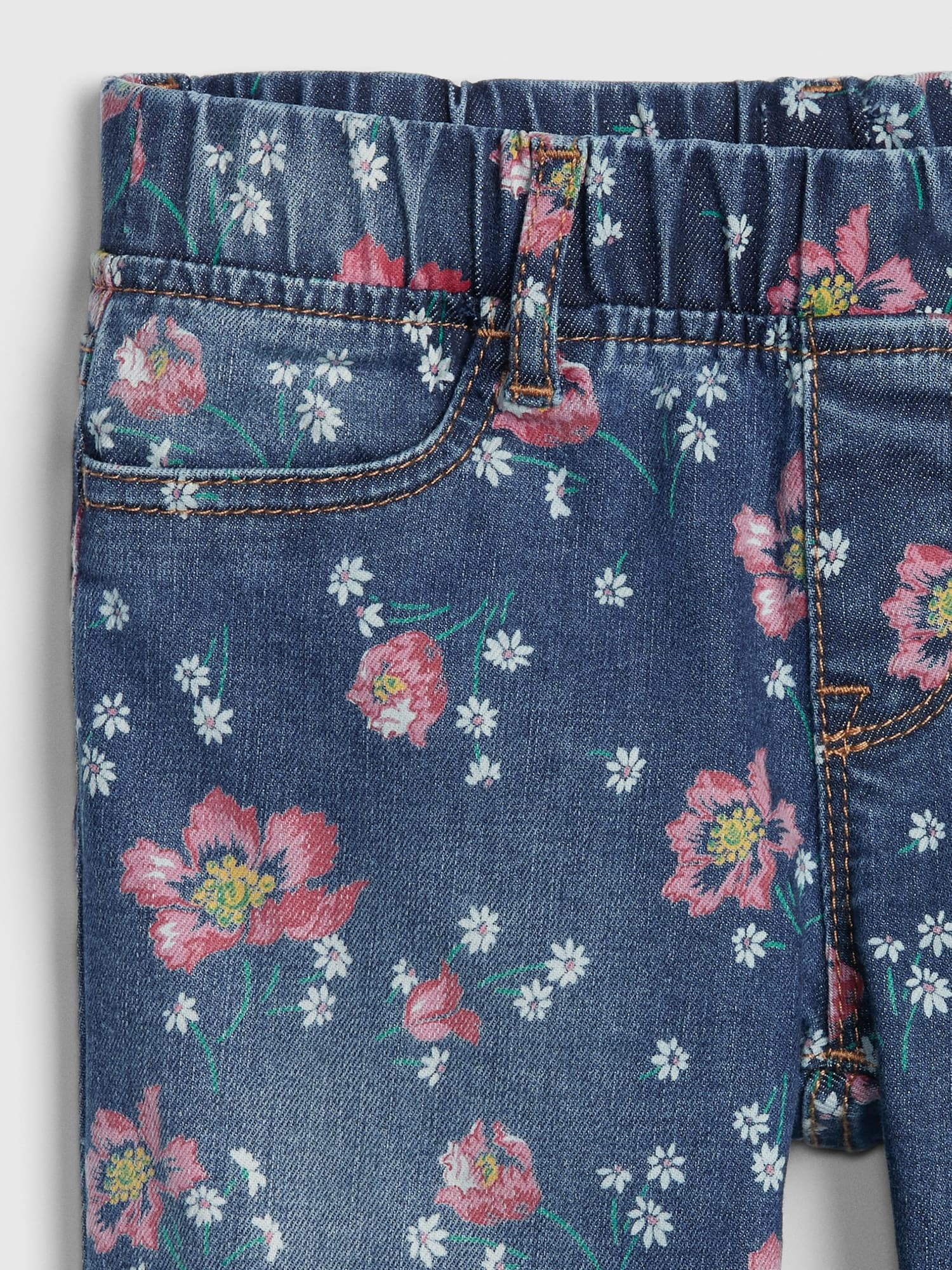 f1be4ab4153bd3 Kids Superdenim Floral Ankle Jeggings | Gap