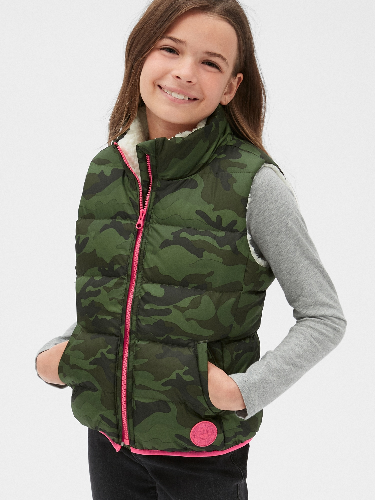 Kids Cold Control Ultra Max Down Vest | Gap