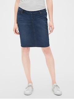 Maternity Full Panel Denim Skirt
