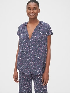 Dreamwell Floral Print Popover Shirt