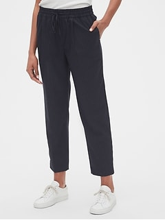 Stripe Drawstring Pants in Bi-Stretch