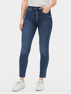 High Rise True Skinny Ankle Jeans with Secret Smoothing Pockets