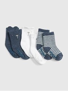 Chaussettes avec l'ours Brannan pour bébé (paquet de 3paires)