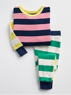 Pyjama rayé à bloc de couleur babyGap